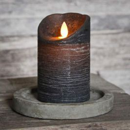 Flackernde Flamme - LED-Kerze Glim Frost graubraun