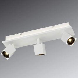 Weiße LED-Deckenlampe Cuba mit Osram LEDs, 3-flg.