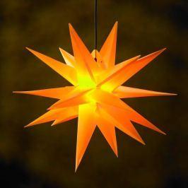 18-zackiger XL-Kunststoff-Stern für außen - gelb