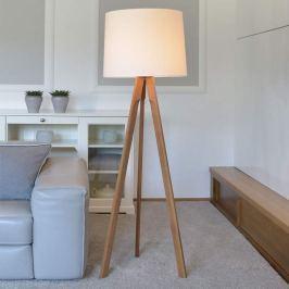Dreibein-Stehlampe Tre aus Eichenholz