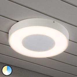 Runde LED-Außendeckenleuchte Carrara in Weiß