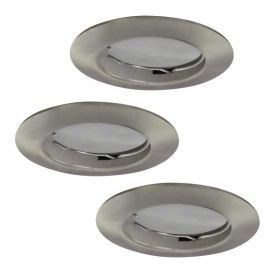 3er-Set LED-Einbauspot Downlight DIM Flat nickel