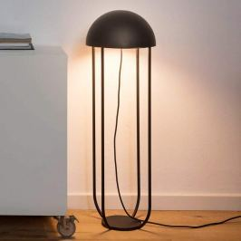 Schwarz-goldene LED-Stehlampe Jellyfish