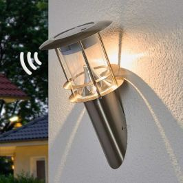 Solarbetr. LED-Wandfackel Brush m. Bewegungssensor