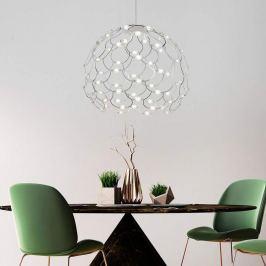 Verchromte LED-Pendellampe Lamoi 60 cm