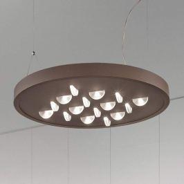 Luno - stilvolle LED-Pendelleuchte in Rostbraun
