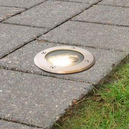 Runde LED-Bodeneinbauleuchte Doris, Edelstahl