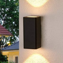 Ruja - dunkelgraue Außenwandlampe mit LED