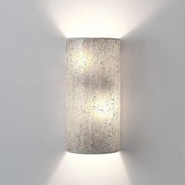 Narziso - silberne Wandleuchte aus Glasmosaik