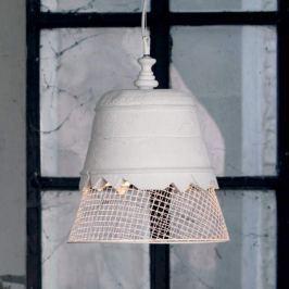 Karman Domenica - Gips-Hängeleuchte, weiß, 35 cm