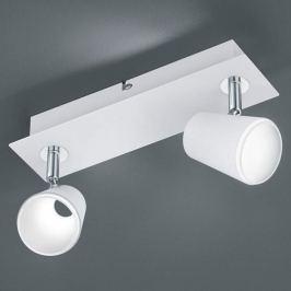 Weiß-chromfarbener LED-Spot Narcos - 2-flg