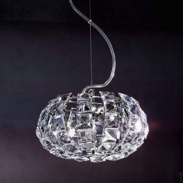 Glaskristall- Hängeleuchte ANDROMEDA