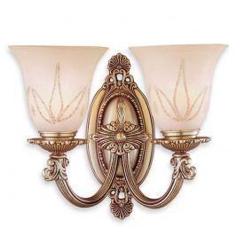2-flammige Wandlampe Estrella mit Glasschirmen