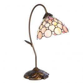 Zart wirkende Tischlampe Rosa im Tiffany-Stil