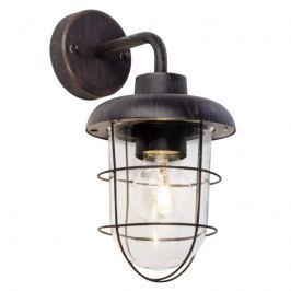 Carlisle - schwarze Außenwandlampe mit Schutzkorb