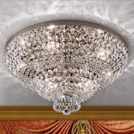 Prachtvolle Kristall-Deckenleuchte Sheraton chrom