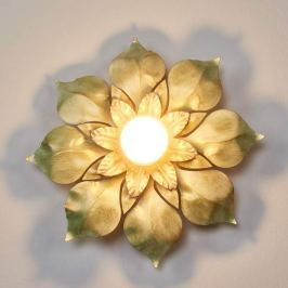 Florentiner Wandleuchte Blossom, antikgrün
