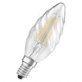 LED-Filament-Kerzenlampe E14 4W, warmweiß, gedreht