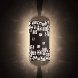 Swarovski Mosaix - Kristall-Wandleuchte, schwarz
