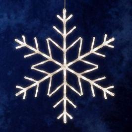 Schlichte Schneeflocke, 60 LEDs für Außen 60cm