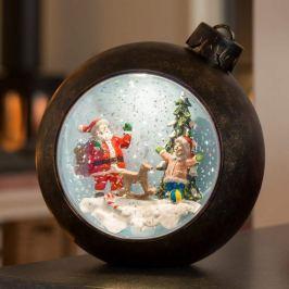 LED-Kugel Weihnachtsmann m. Kindern, mit Wasser