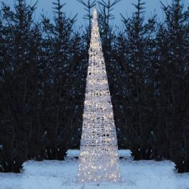 Hell leuchtende LED-Pyramide - 150-flg.