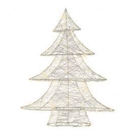 Für innen - silberfarbener Draht-Baum m. Micro-LED