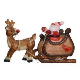 Santa mit Schlitten - herrliche Außen-Leuchtfigur