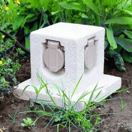 Stone - vierfache Gartensteckdose