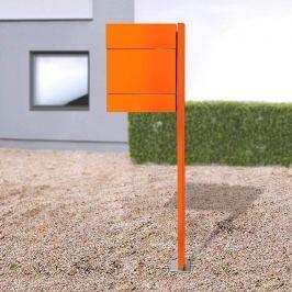 Briefkasten Letterman V, Zeitungsf+Pfosten, orange