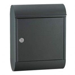 Solider Qualitätsbriefkasten Topaz in Schwarz