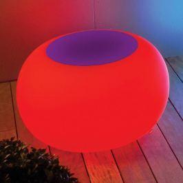 Tisch BUBBLE, Licht LED RGB + Filz violett