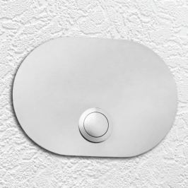 Edelstahl-Klingelplatte Oval