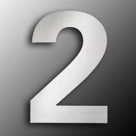 Edelstahl-Hausnummern  groß 2