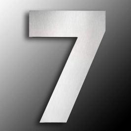 Edelstahl-Hausnummern  groß 7