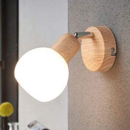 Ansprechender LED-Strahler Svenka, 1-fl. Holzoptik