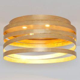 Goldene LED-Deckenleuchte Magico mit Spiralschirm