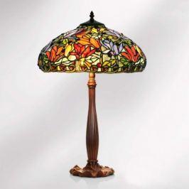 Tischleuchte Elaine, floraler Tiffany-Stil, 64 cm