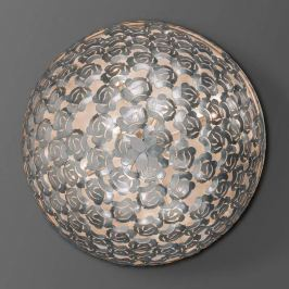 Mit Rosendekor - Deckenlampe Mia in Silber, 80 cm