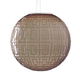 Braune Glas-Pendellampe Ball