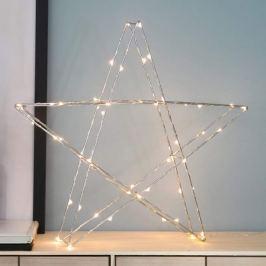 Stehender LED-Stern Super 45 cm chrom