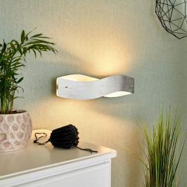 Mit Dimmer - LED-Wandlampe Lian in Silberoptik