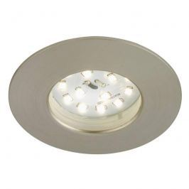 Felia - LED-Einbauleuchte IP44, nickel matt
