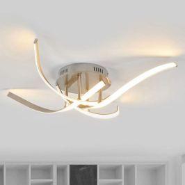 Hell leuchtende LED-Deckenlampe Milane nickel matt