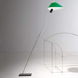 Ingo Maurer Glatzkopf Stehleuchte, Schirm grün