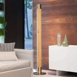 Moderne LED-Stehleuchte Vendôme mit Holz
