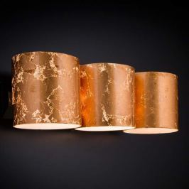 Kupfer-Wandleuchte Brick, dreiflammig