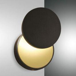 LED-Wandleuchte Ara mit Lesespot, schwarz-gold