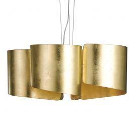 Schwungvolle Glas-Pendelleuchte Imagine - gold