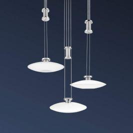 New Elina Nickel LED-Hängeleuchte, Baldachin rund